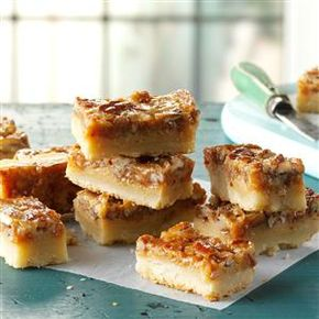 Pecan Pie Bars - Pecan Pie Bars Recipe -These bars are rich and delicious - just like pecan pie! They're perfect for taking to potlucks and other gatherings...I always come home with an empty pan. —Carolyn Custer, Clifton Park, New York
