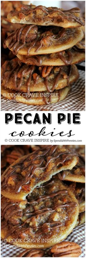 Pecan Pie Cookies - Pecan Pie Cookies! These have a deliciously sweet, caramel-y, nutty filling with a flaky pastry! Easy to make, easier to eat!