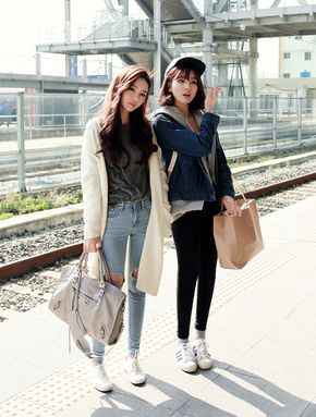 asian kfashion asian modes skinny jeans korean fashion south korea south korean fashion posh chic   cardigan!