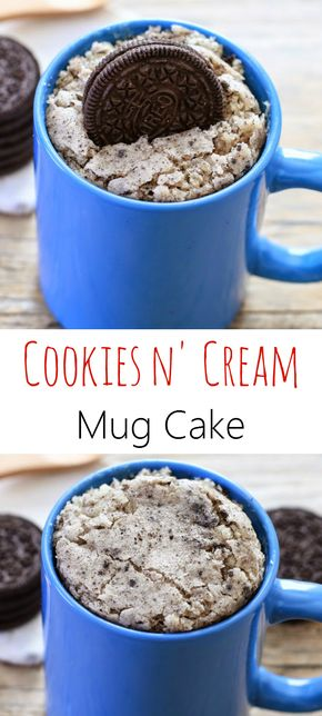Cookies and Cream Mug Cake - Cookies and Cream Mug Cake. Love mugcakes, there the perfect serving size for 1 person ( or 2;) )