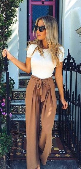 75+ Summer Outfits You Should Already Own - #summer #fashion / palazzo pants