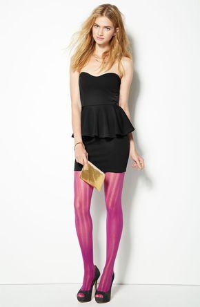 #Holiday Party: Lush Strapless Peplum Dress #Nordstrom #BPNordstrom