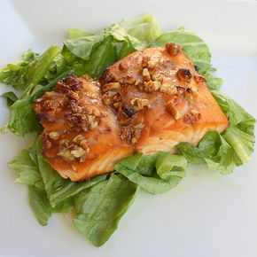 Honey and Pecan-Glazed Salmon - Weight Watchers Honey and Pecan Glazed Salmon. This is good. Simple, healthy, and tasty. I'd make it again.