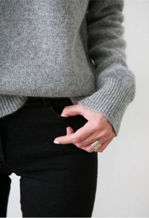 Photo (Death by Elocution) - grey jumper, black trousers