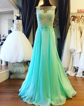 Prom Dresses,Prom Dress,Mint Green - Prom Dresses,Prom Dress,Mint Green Illusion Sheer Back Prom Dress , Formal Gown With Lace Appliques,Cute Cocktail Dress, Formal Occasion Dresses,Formal Dress