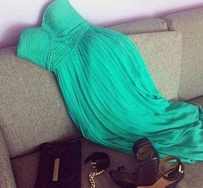 Prom Dresses,Evening Dress,Pretty G - Prom Dresses,Evening Dress,Pretty Green Sweetheart Chiffon Floor Length