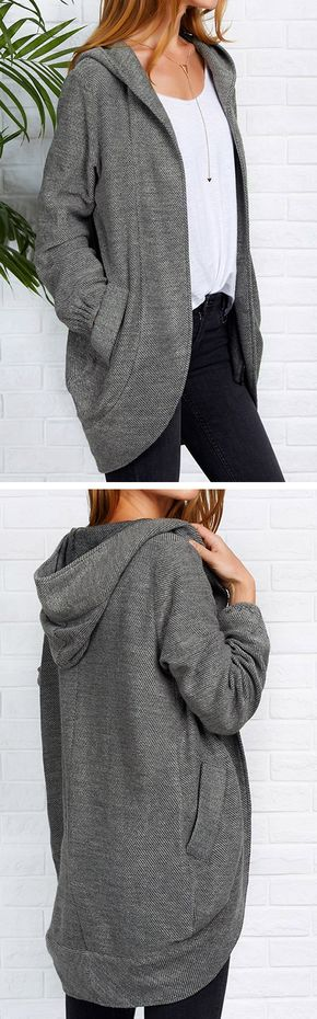 Dead Of Night Hooded Coat - Big Sale-Only $34.99! Start your day off right in Hooded coat. All those hooded design and open front and pocket at sides in perfect harmony.Share more wonderful items at Cupshe.com !
