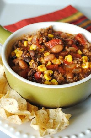 """The Best Ever Crock Pot Taco Soup - This is actually more appropriately called """"whatever I have in my pantry that would be good in a taco soup"""" soup. After writing up this recipe, I couldn't help but get one started for our dinner ..."""