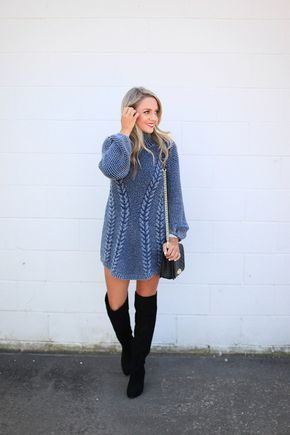 Tuesday Ten: November Style Tips - Sweater dress weather via Miss Bethany Kate.
