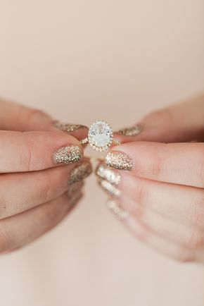 Wedding Bells: Our Favorite Engagement Ring + Manicure Combos - I N S T A G R A M @EmilyMohsie