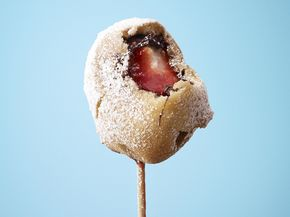 Chocolate-Strawberry Waffle Ball on a Stick - Chocolate-Strawberry Waffle Ball on a Stick Recipe