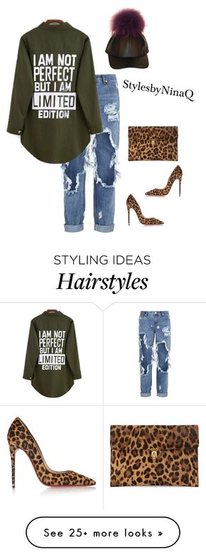 """""""Untitled #538"""" by nina-quaranta on Polyvore featuring One Teaspoon, Christian Louboutin and Alexander McQueen"""