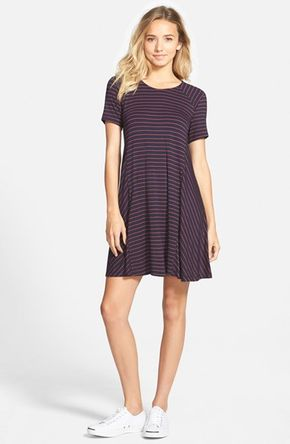 Lush Paneled Shift Dress | Nordstrom