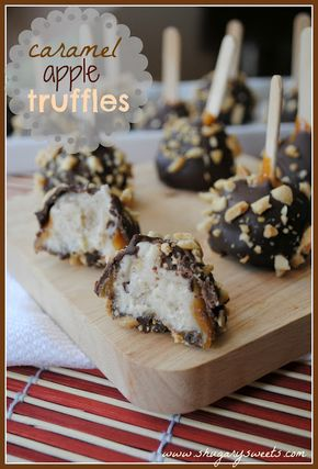 Caramel Apple Truffles - Caramel Apple Truffles - Shugary Sweets