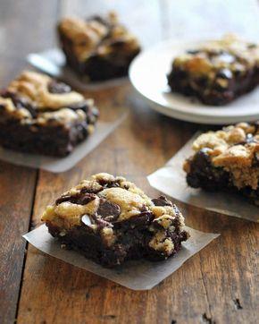 Chocolate Chip Cookie Brownies - cookie brownies