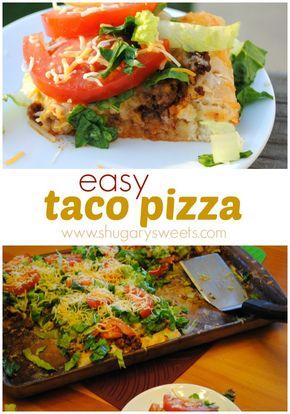 Taco Pizza - Easy Taco Pizza