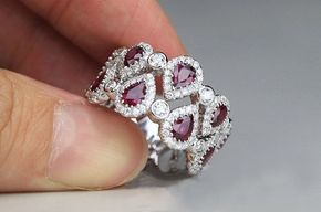 This would have been an awesome engagement ring or wedding band. Upgrade? (1.1 Carat Ruby Engagement Ring, Diamonds, 14K White Gold)