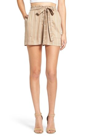 Stripe Tie Waist Shorts - Too cute! These tailored shorts feature a crisp striped pattern, soft, waist-cinching belt, and plenty of pockets.