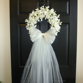 Spring wreath summer wreath wedding front door wreaths outdoor bridal shower decorations white ivory wreaths country french weddings decor - weddings door wreaths First Communion front door by aniamelisa