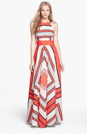 Scarf Print Crêpe de Chine Fit & Flare Maxi Dress (Regular & Petite) - Eliza J Scarf Print Woven Maxi Dress (Regular & Petite) available at #Nordstrom