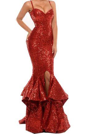 Prom Dresses,Evening Dress,Sequins - Prom Dresses,Evening Dress,Sequins Long Prom Dresses With Ruffles