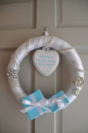 Tiffany Blue Bridal Shower Wreath for front door
