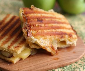Low Carb Flatbread - Brie, Ham and Green Apple Panini - Low Carb and Gluten-Free