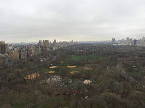 Central Park View from the BERTA showroom during Bridal Fashion Week in NYC <3