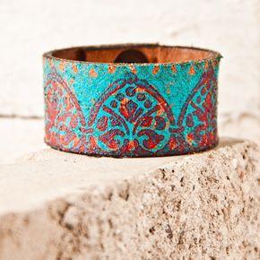 Turquoise Jewelry // Leather Cuffs ➳➳➳☮Pinterest: bohojodi
