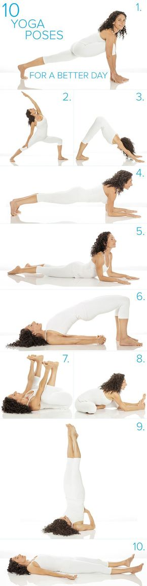 10-minute yoga sequence you can do anywhere - Try doing these easy yoga poses to boost your mood. This workout routine just takes 10-minutes and it's effective.