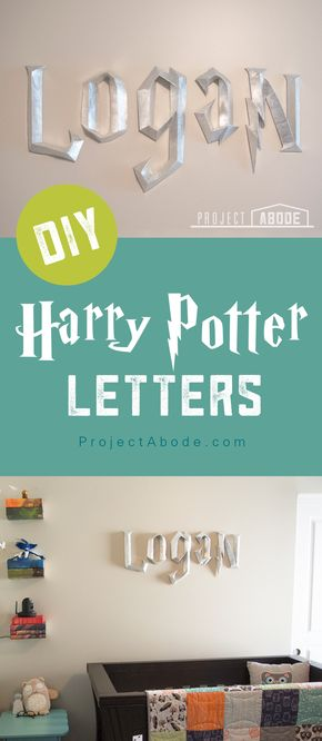 DIY 3D Harry Potter Letters - Want to make your own 3D Harry Potter Letters? Check out this blog post on Project Abode to learn how!