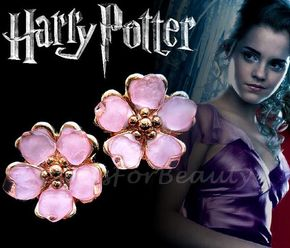 Harry Potter - Hermione Granger yule ball earrings!  These earrings are my handmade replica from the film Harry Potter and the Goblet of Fire