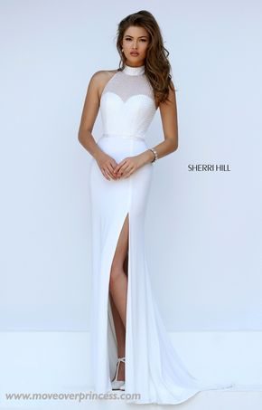 Sherri Hill 11328 - This Sherri Hill looks like a 2-piece from the back but it's solid in the front! Perfect for the schools that won't allow actual 2-pieces!