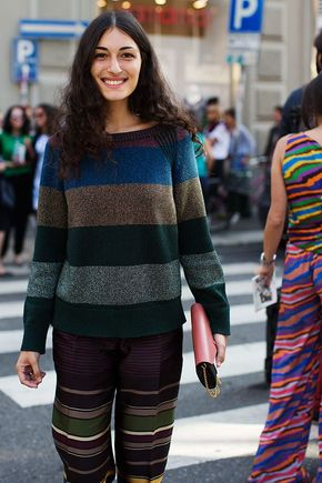 On the Street….Stripe on Stripe, Milan (The Sartorialist) - Street Style