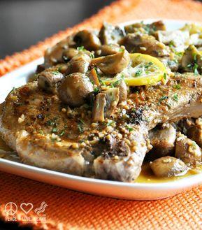 Lemon Garlic Pork Steaks with Mushrooms – Low Carb, Gluten Free - Lemon Garlic Pork Steaks with Mushrooms - Low Carb, Gluten Free | Peace Love and Low Carb