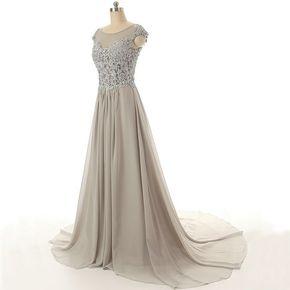 Elegant Sleeveless Prom Dress,A-Lin - Elegant Sleeveless Prom Dress,A-Line Prom Dresses,Evening Dress