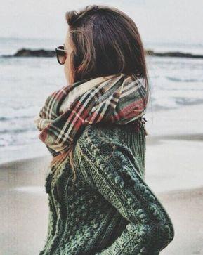 75 Fall Outfits to Copy - #fall #fashion / heavy knit + tartan