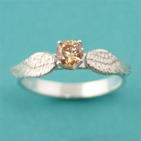 Harry Potter Golden Snitch Engagement Ring - Harry Potter Golden Snitch Engagement Ring - Spiffing Jewelry - Add a secret message inside