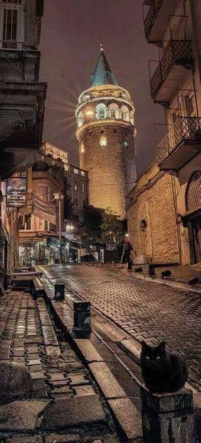 Galata tower . Istanbul, Turkey