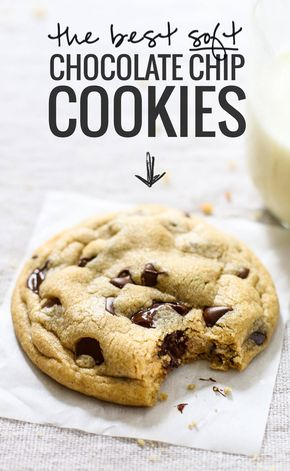 The Best Soft Chocolate Chip Cookies - The BEST Soft Chocolate Chip Cookies - no overnight chilling, no strange ingredients, just a simple recipe for ultra SOFT, THICK chocolate chip cookies! ♡ pinchofyum.com Delicious... May need to add more flour.... Small batch... No chilling... Do not over bake....