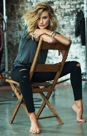 #behindthescenes of Supermodel Rosie Huntington-Whiteley's denim campaign with Paige Denim.