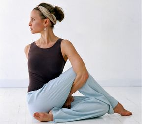 Half Lord of the Fishes Pose - 5 yoga poses for back pain