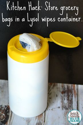 Kitchen Hack: Storing Plastic Grocery Bags - Kitchen Hack: How to store your grocery bags