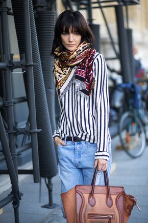 C'est Chic: Style from Paris.  Try with jeans rather than denim skirt.