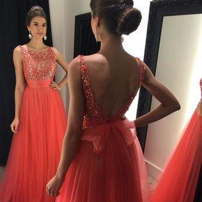 O-Neck Beading A-Line Prom Dresses - O-Neck Beading A-Line Prom Dresses,Long Prom Dresses,Cheap Prom Dresses, Evening Dress Prom Gowns, Formal Women Dress,Prom Dress