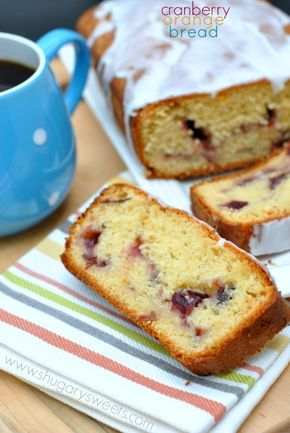 Cranberry Orange Bread - Cranberry Orange Bread - Shugary Sweets