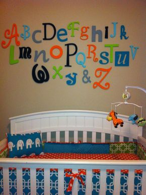 """Wooden Alphabet Letter Set - 5"""" to 10"""" letters- ALphabet Wall decor- Hanging wall Letters-Nursery Letters-Alphabet letters - Wooden Alphabet Letter Set -PAINTED- 5"""" to 10"""" letters-ABC Wall- ALphabet Wall decor- Hanging wall Letters-Nursery Letters-Alphabet letters"""