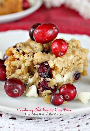 Cranberry Nut Vanilla Chip Bars