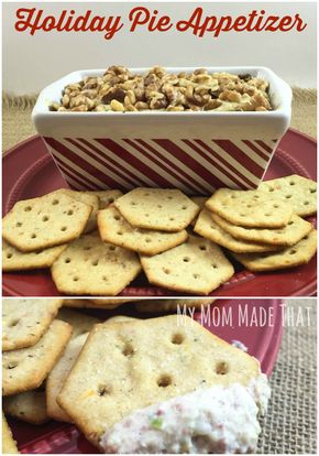 """Easy And Savory """"Holiday Pie"""" Appetizer - My Mom Made That: Easy And Savory """"Holiday Pie"""" Appetizer made with Philadelphia Cream Cheese, Green Pepper and Dried Beef.  It's #naturallycheesy.  {Post Sponsored by Kraft Foods. AD.}"""