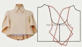 CASACO COM MANGA RAGLAN - Рукав couture fashion crop bolero spring jacket pattern to make vintage chic folk style 20's inspired